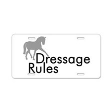 Dressage Rules Sidepass Aluminum License Plate
