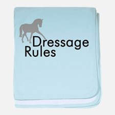 Dressage Rules Sidepass baby blanket