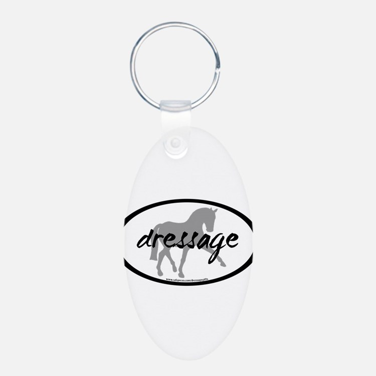 Dressage Sidepass w/ Text Keychains