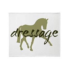 Sage Sidepass Dressage Throw Blanket