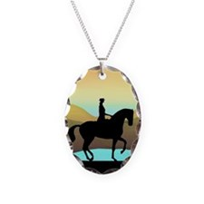 Dressage By The Sea Necklace Oval Charm