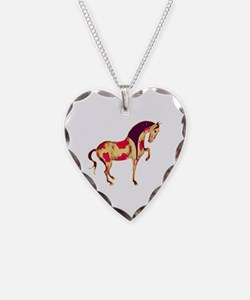 Prancing Paint Tang Horse Necklace