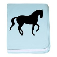 Piaffe Horse baby blanket