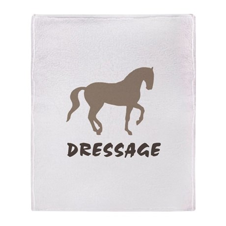 Piaffe Dressage (taupe) Throw Blanket