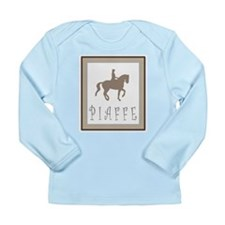 Piaffe Rider in Brown/Tan Long Sleeve Infant T-Shi