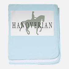 Cute Hanoverian horse baby blanket