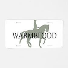 Piaffe Warmblood Aluminum License Plate