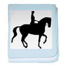 Piaffe Equestrian baby blanket