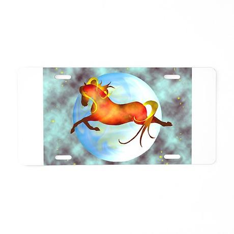 moon horse Aluminum License Plate