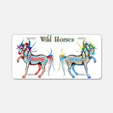 Horses of Color Aluminum License Plate