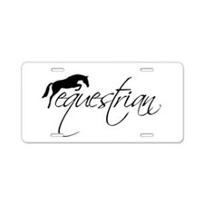 Unique Equestrian Aluminum License Plate