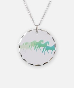 Extended Trot Greens Necklace Circle Charm