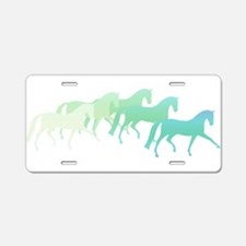 Extended Trot Greens Aluminum License Plate
