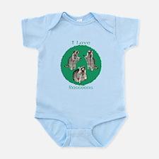 I Love Raccoons Infant Bodysuit