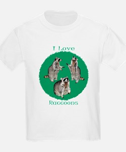 I Love Raccoons T-Shirt