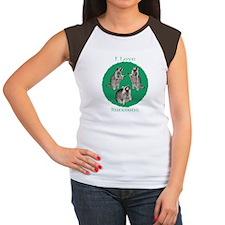 I Love Raccoons Women's Cap Sleeve T-Shirt