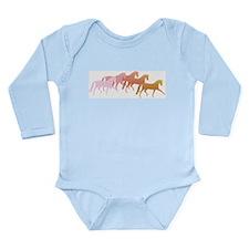 many horses Long Sleeve Infant Bodysuit