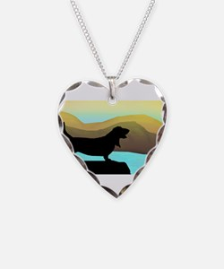 Basset Hound By The Sea Necklace