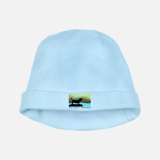 Basset Hound By The Sea baby hat