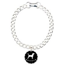 b&w beagle dog Charm Bracelet, One Charm