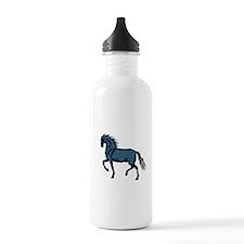Baroque Horse Woodblock Sports Water Bottle