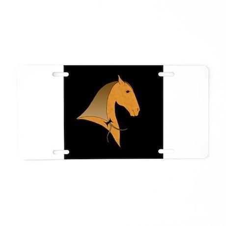 baroque dressage horse Aluminum License Plate