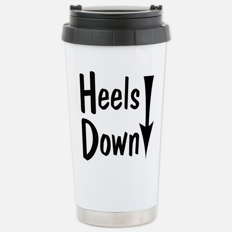 Heels Down! Arrow Travel Mug
