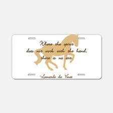 Cool Leonardo Aluminum License Plate
