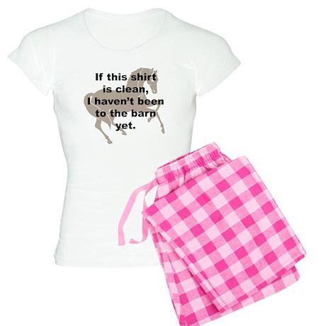 Dirty Barn Shirt w/ Horse Women's Light Pajamas