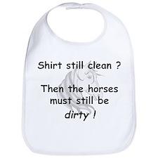 clean or dirty horse shirt Bib