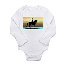 Dressage By The Sea Long Sleeve Infant Bodysuit