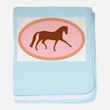 Unique Hanoverian horse baby blanket