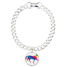 dressage horse rainbow Bracelet