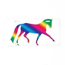dressage horse rainbow Aluminum License Plate