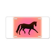 dressage horse Aluminum License Plate