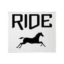 Ride...Horse Throw Blanket