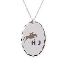 h/j horse Necklace Oval Charm
