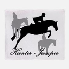 Hunter Jumper Trio Script Throw Blanket