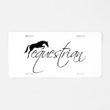 Equestrian w/ Jumping Horse Aluminum License Plate