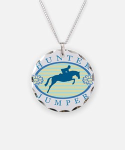 Cute Equestrian Necklace Circle Charm