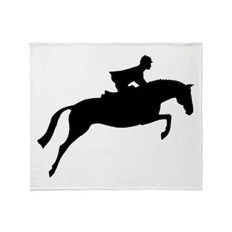 h/j horse & rider Throw Blanket