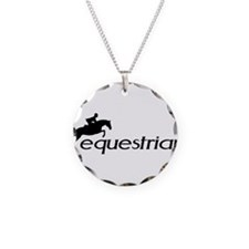 Cute Equestrian Necklace Circle Charm