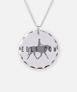 Heels Down Flat Rider Necklace Circle Charm