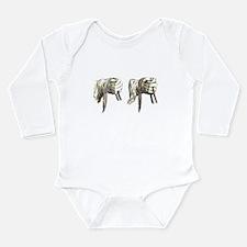hands holding reins Long Sleeve Infant Bodysuit