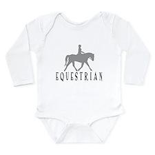"""Equestrian"" Long Sleeve Infant Bodysuit"