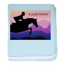 Funny Horse trainer baby blanket
