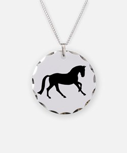 Cantering Horse Necklace Circle Charm