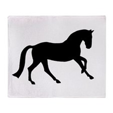 Cantering Horse Throw Blanket