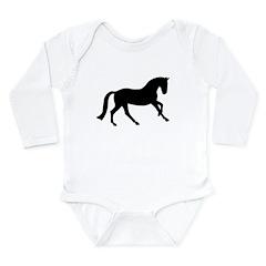 Cantering Horse Long Sleeve Infant Bodysuit