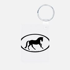 Canter Horse Oval Keychains